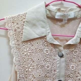 🚚 原價三千多專櫃萊卡佛LaiCarFore裸色精緻刺繡洋裝