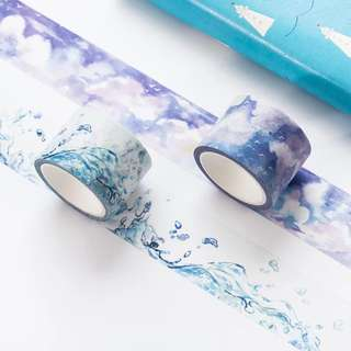 (PO) Watery Skies Washi Tapes