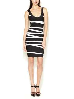 Herve Leger danica bandage dress XXS