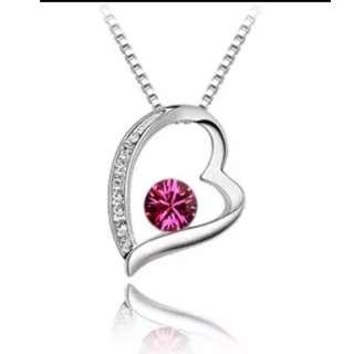 Korean style heart pendant chain necklace