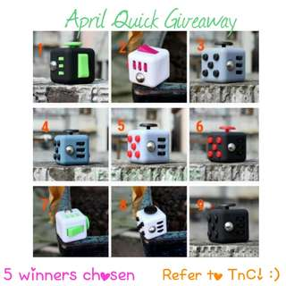 April Quick Giveaway (5 winners!) Winners to be announced 2nd May 9pm