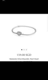 Pandora Pavé Heart Bracelet