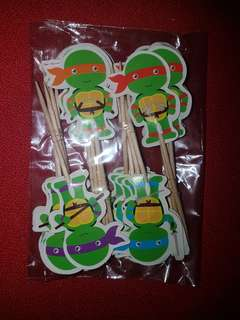 Ninja turtle cake toppers