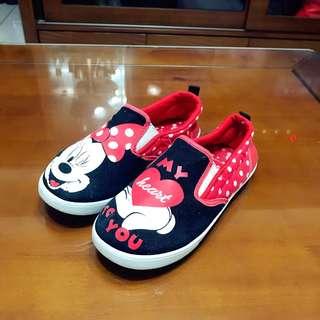 迪士尼米妮帆布鞋