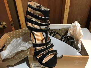 Call It Spring Cut Out Black Sandals in size 8