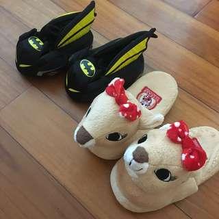 [購自美國] BATMAN & Rudolph 毛毛拖鞋 slipper