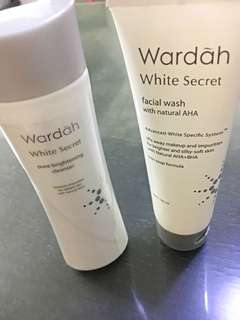 Wardah facial wash & pelembab whitenning