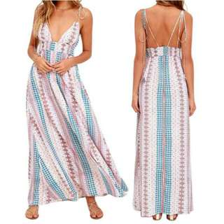Bohemian Maxi Beach Dress