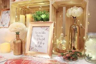 WEDDING TABLE DECOR - ROSE GOLD THEME