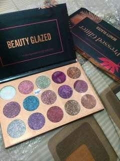 Pressed glitter beauty glazed