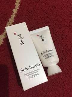 Sulwhasoo brightening cleansing foam 30ml