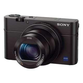 Sony RX100 Mark 3. Original Sony Malaysia Warranty 15 mth. Free Sandisk 16gb card, Extra Battery, Leather case, Selfie Stick