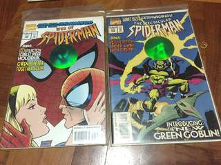 NM Set of 2 Marvel Spider-Man Live-Action HoloDisk Hologram Edition Comics
