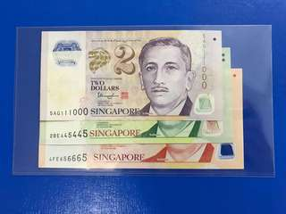 $2,$5,$10 beautiful numbers note