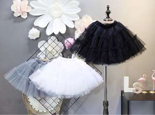 Puff skirts lace veil skirt