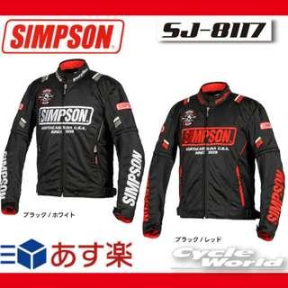 SIMPSON NEW SJ-8117 Simpson Mesh jacket Spring-Summer Jacket Wear Protector (SHIP FROM JAPAN)