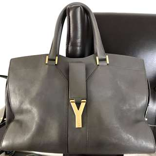 YSL Cabas Chyc Bag - Grey Medium Leather