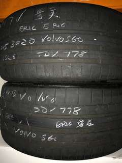 245/30/20 continental csc6 2pc used tyre 75% tread 1pc $100pc
