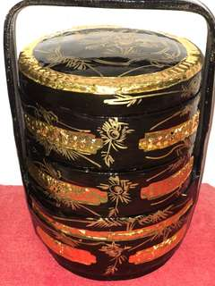 Brand New Vintage Gold Wedding Basket