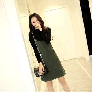 XS-2XL Mono Colour Sling Dress with Black Coloured Strap