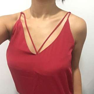 Glassons red strappy singlet top