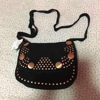 •brandnew• Mango Black Stud Leather Bag