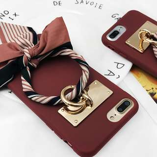 Korean Vintage Ribbon iPhone Case for 6 / 7 / 8 + / X