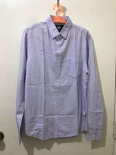 Cotton On Light Purple Plaid Polo