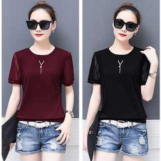 Lace Short T - Shirts