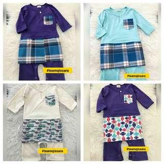 Baju Melayu Rompers Bersamping