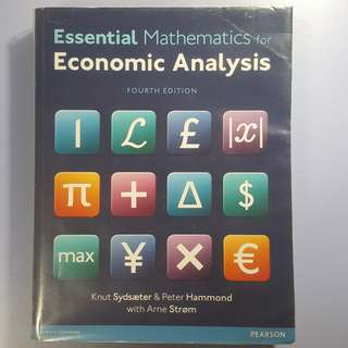 Essential Mathematics for Economic Analysis Fourth Edition