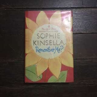Hardbound copy of REMEMBER ME by Sophie Kinsela