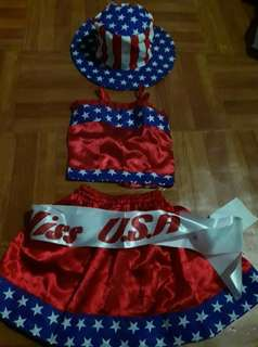 Costume United Nations Girl Scouts Star Scouts Leotards baro't saya