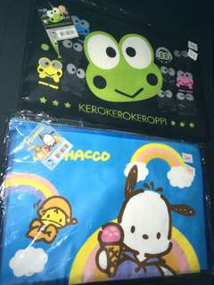 Brand new Sanrio a4 zip folder file Pochacco & Kerokerokeroppi