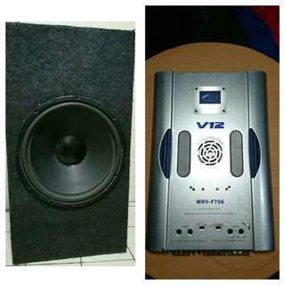 Bass Speaker and Amplifier