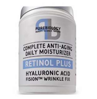 [IN-STOCK] Pure Biology Retinol + Complete Anti-Aging Facial Moisturizer Cream with Hyaluronic Acid & Breakthrough Anti Wrinkle Complex - For Face and Eye Area 1.7 FL OZ