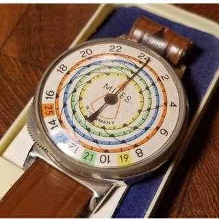 NOS Vintage Miles Pedometer W. Germany Wrist Watch