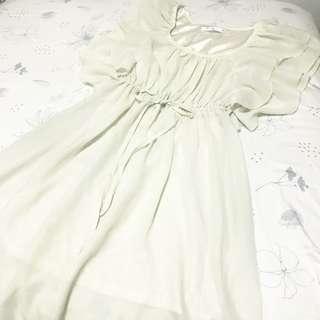 韓國米白色雪紡裙 / Korean chiffon dress