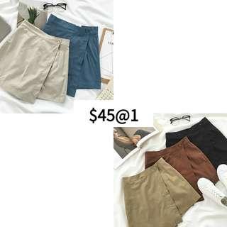韓 版 短 裙 褲