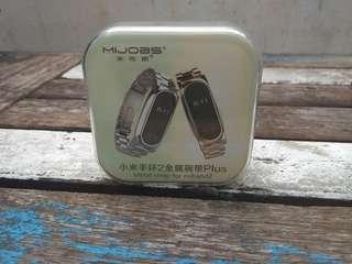 Mijobs Metal Stainless Steel Starp Xiaomi Mi Band 2