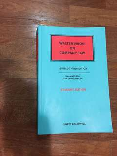 Walter woon company law (revised 3rd edition)