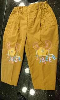 JBEER咖啡色長褲
