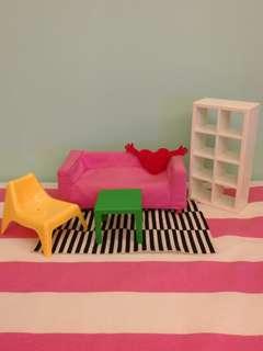 Used Ikea Mini Doll House Toy Set