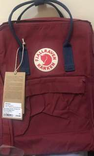 CLASSIC FJALLRAVEN KANKEN BAG BACKPACK OX-RED NAVY BLUE