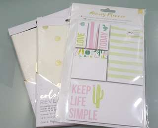 Set of 3: 2 DIY Watercolour Notebook + 1 Set of 6 Sticky Note Pads