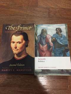 Aristotle, Politics & Machiavelli, The Prince