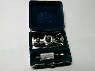 古董早期德國APOLLO精鋼製剃鬚刀(三件組合)