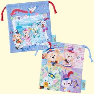 Tokyo Disneysea Disneyland Disney Resorts Sea Land Happy Marching Fun 2018 Duffy & Friends Drawstring Set