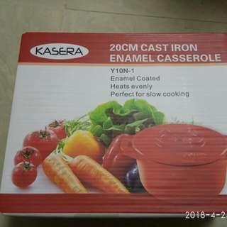 Kasera cast iron enamel casserole 20cm 煲