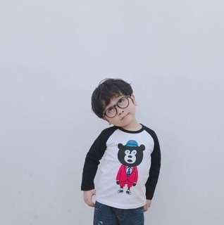 Children's cotton long-sleeved t-shirt